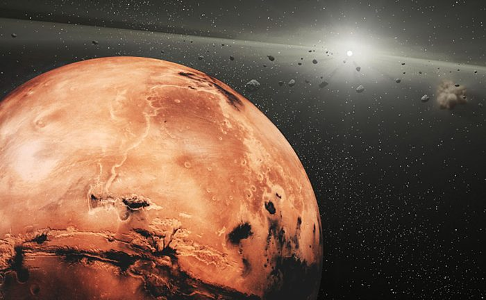 Restos de un misterioso planeta están orbitando Marte