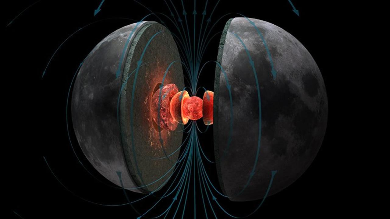 Científicos descubren los restos de un intenso campo magnético en la Luna