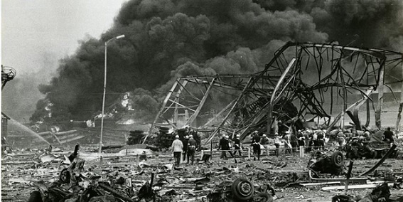 Mujer vio en las noticias desastre industrial 4 horas antes de que sucediera