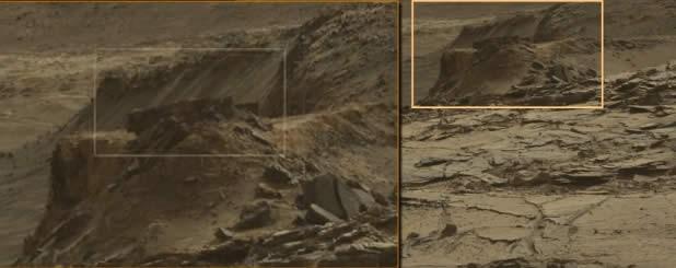 A descubierto la nasa paredes en Marte?