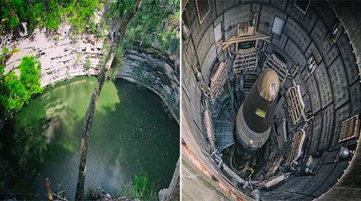Este sagrado pozo maya cerca de Chichén Itzá se cree que son los restos de un antiguo silo de cohete