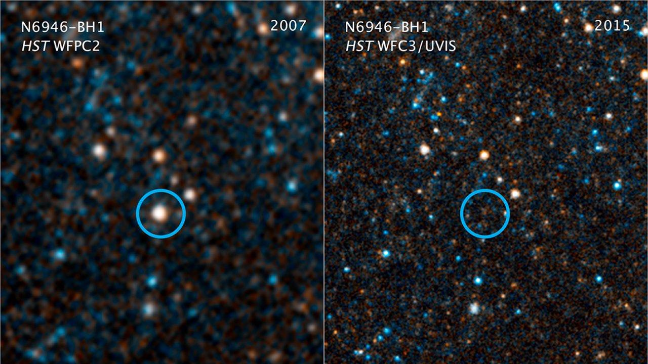 N6946-BH1 – Estrella desaparece de nuestro universo sin dejar rastro