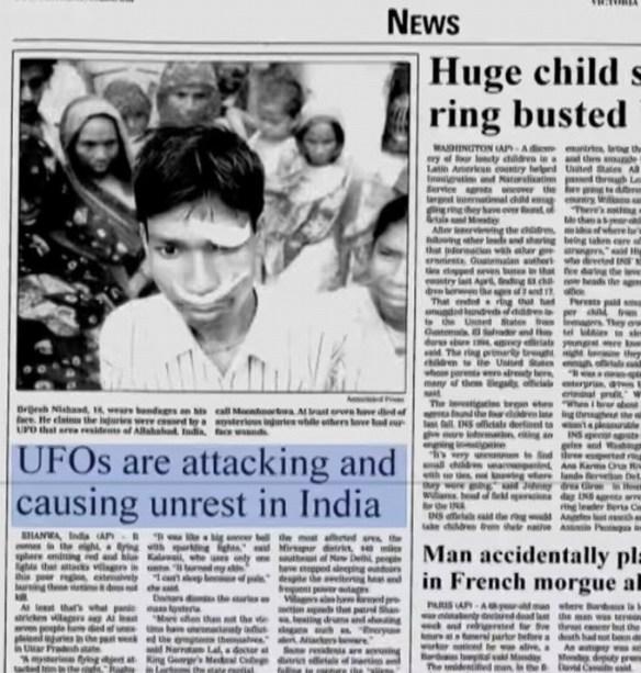El ataque alienígena en la India que dejo 20 personas desaparecidas y 7 muertos en el 2002
