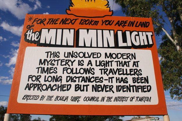 Luces Min Min en Australia