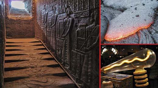Las escaleras de granito derretido en el Templo de Hathor, Egipto