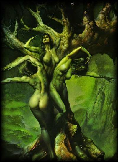Resultado de imagen de Hamadríades(árboles