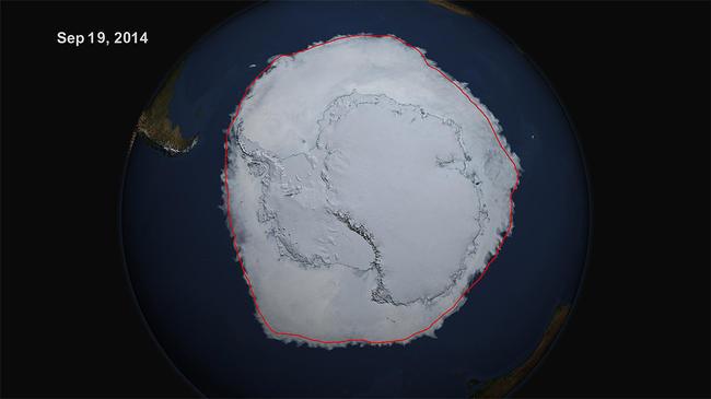 El hielo alrededor de la Antártida bate su récord de extensión desde que se realizan mediciones
