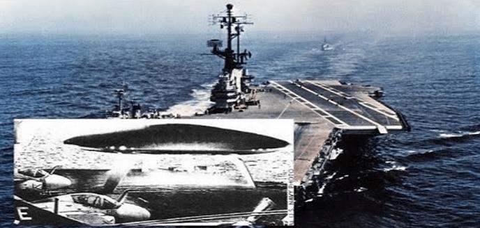 Foto supuestamente autentica muestra un OVNI aterrizando sobre un portaaviones de los EE.UU