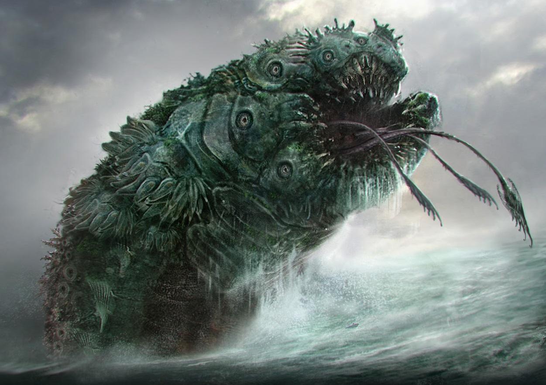 Monstruos marinos legendarios de la mitología.