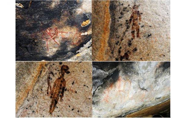 En la India pinturas rupestres de hace 10.000 años con ovnis y extraterrestres