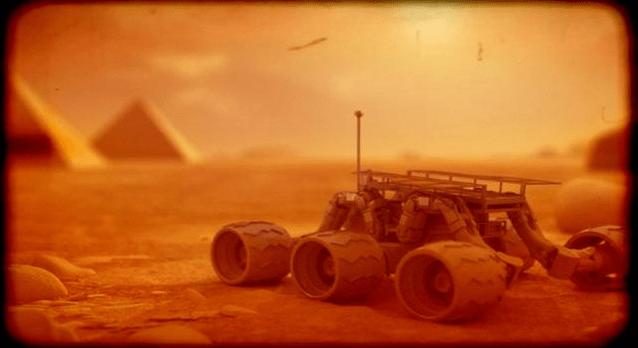 Extrañas estructuras en Marte conectadas a la Esfinge y las Pirámides de Giza.