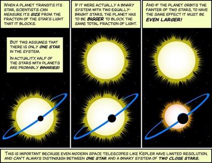 Estrellas ocultas pueden hacer que los planetas parezcan más pequeños
