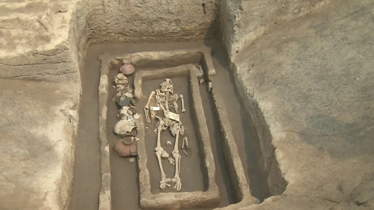 Hallan restos de unos gigantes humanos de 5.000 años de antigüedad en China