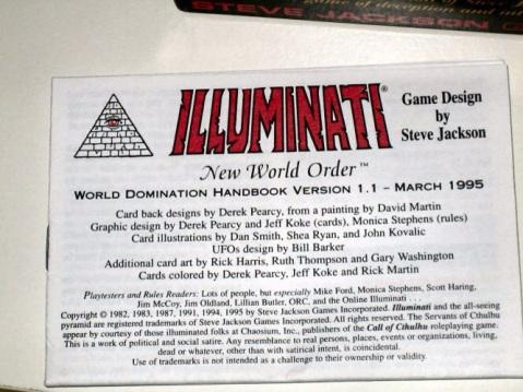 Las cartas Illuminati de Steve Jackson