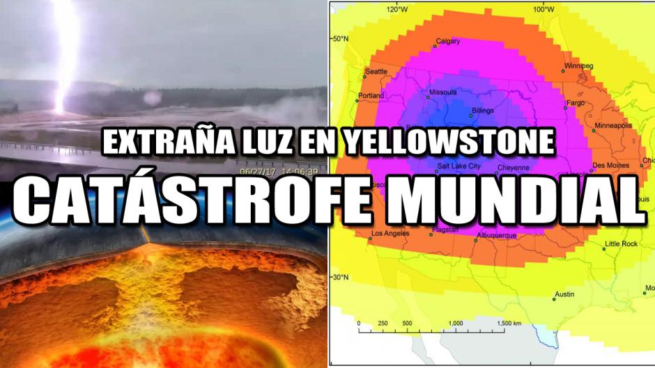 Aparece una Extraña luz en el Supervolcán Yellowstone ¿Se acerca una gran Catástrofe Mundial?