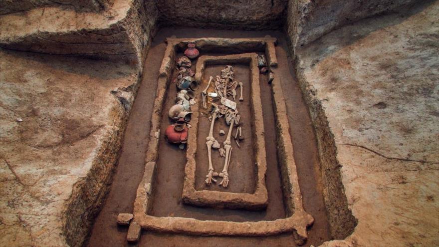 Descubren en China los restos de unos gigantes humanos de 5000 años de antigüedad, julio de 2017.