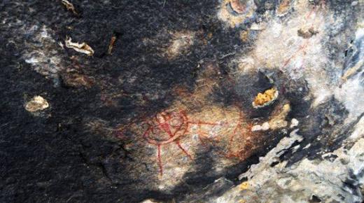 ¿Estas pinturas rupestres de la India muestran prehistóricas abducciones alienígenas?