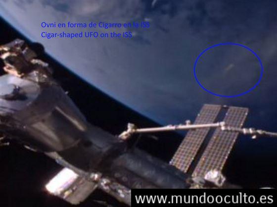 Ovni en forma de Cigarro en la ISS