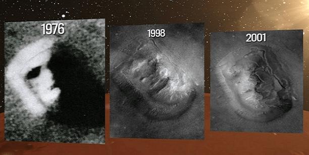 """Afirman científicos de la NASA: """"El rostro humano tallado en Marte es real"""""""