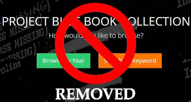 Obligan a cerrar el sitio web donde estaban disponibles los archivos ovni del 'Proyecto Blue Book'