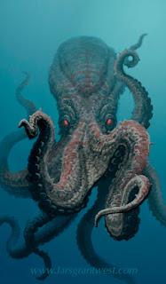 giant octopus - Horrores Cefalópodos.