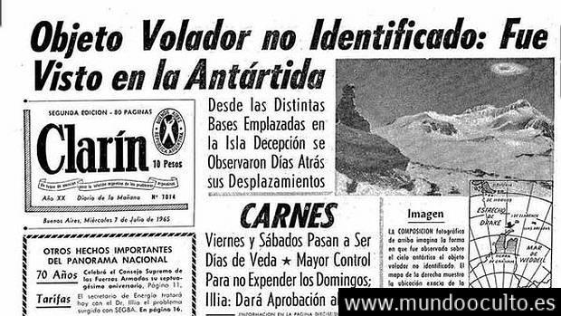 Militares y científicos avistan ovnis en la Antártida (1965)