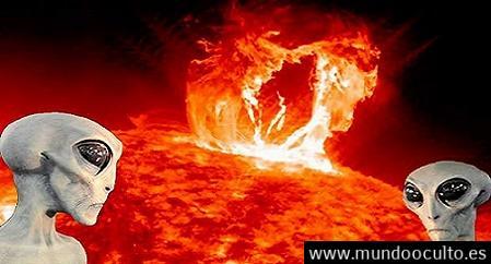 Extraterrestres controlan el sol y es usado como fuente de energía.