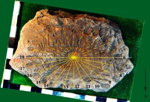 Una antigua losa hallada en Rusia podría contener un reloj solar y lunar correspondiente a la Edad del Bronce