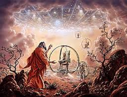 Ezequiel presenció la llegada de seres extra-superiores.