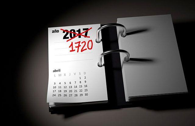 No es el año que crees, estamos en 1720