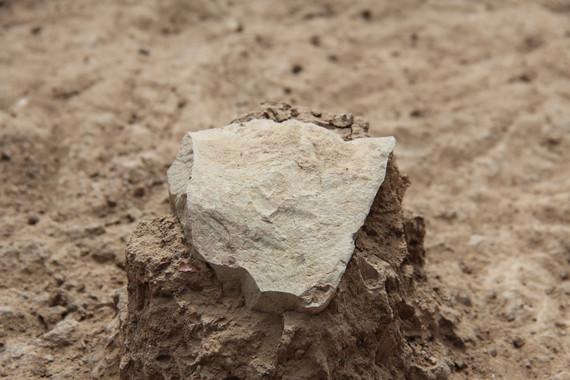 Una de la herramientas de piedra halladas en el yacimiento de Kenia. / MPK-WTAP