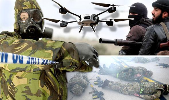 Agencias de espionaje británicas advierten de un posible ataque químico en Reino Unido con enjambres de drones
