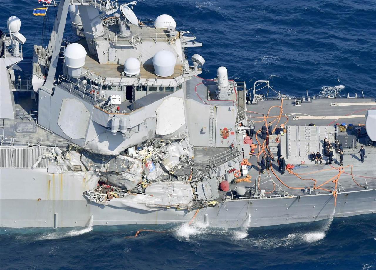 Los extraños accidentes de los destructores USS Fitzgerald y USS John S. McCain