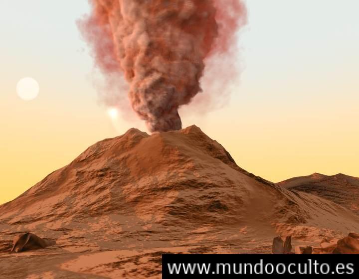Grandes volcanes fueron los responsables del agua en Marte