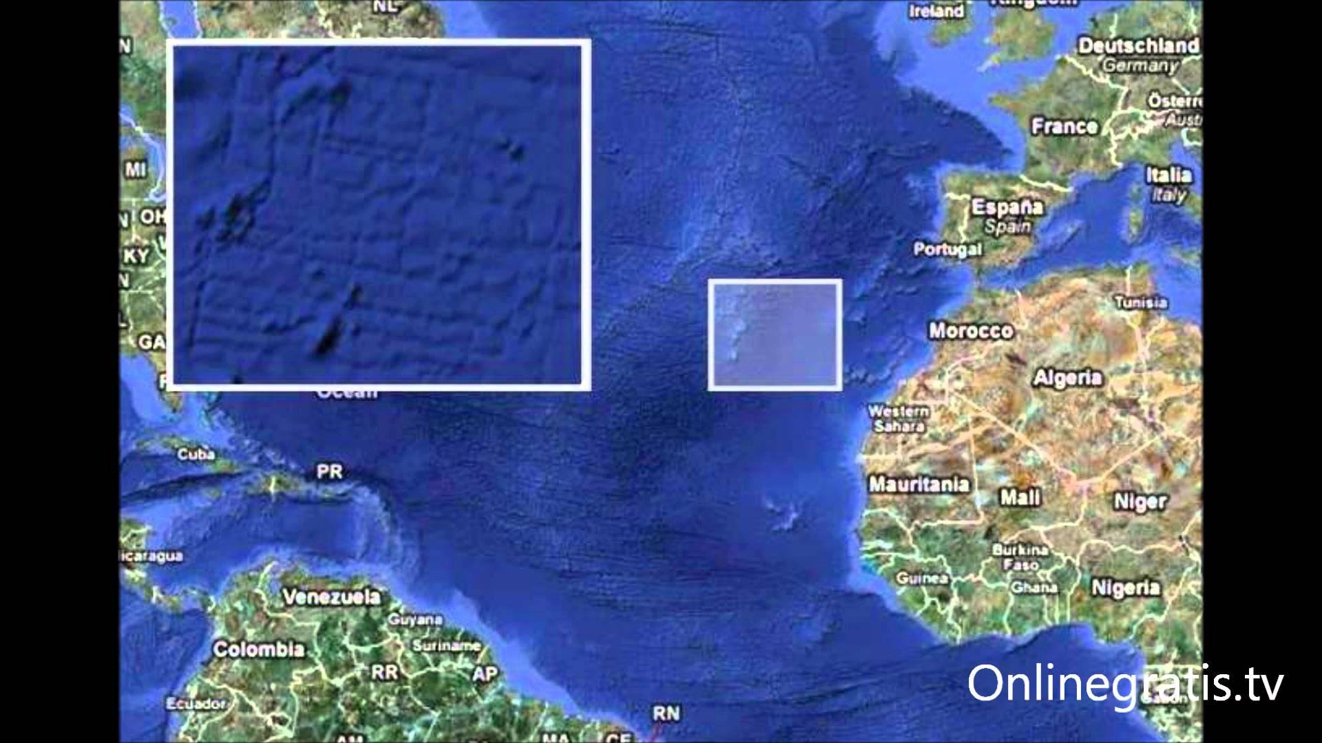 Se encuentra la Atlantida Junto a las Islas Canarias.