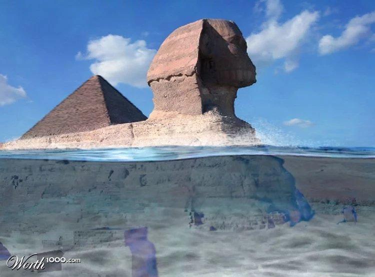 Las pirámides y la Esfinge fueron construidas antes del gran Diluvio universal.