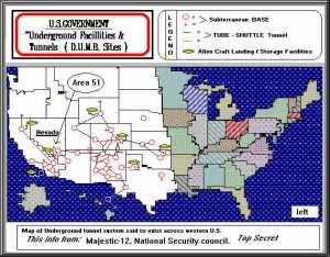 6d153 ovni subtemap - Ubicación de cien bases militares subterraneas, algunas de ellas auténticas ciudades en USA