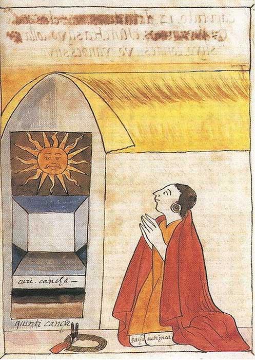 Ilustracion Pachacutec 1 - Inti, el dios del Sol de los incas: hijo de Viracocha y antepasado de los primeros reyes del Imperio inca