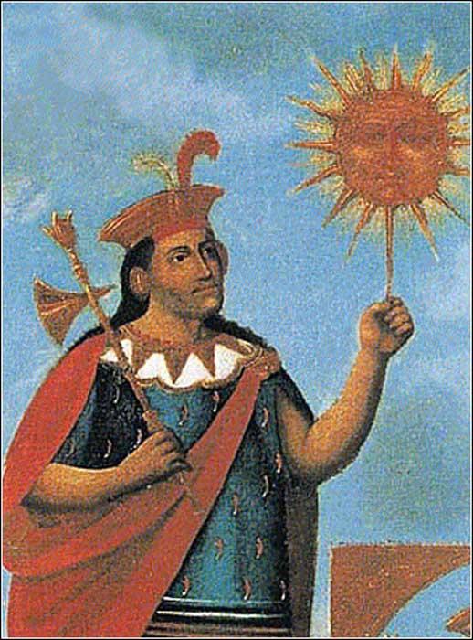 Manco Capac Inti 1 - Inti, el dios del Sol de los incas: hijo de Viracocha y antepasado de los primeros reyes del Imperio inca