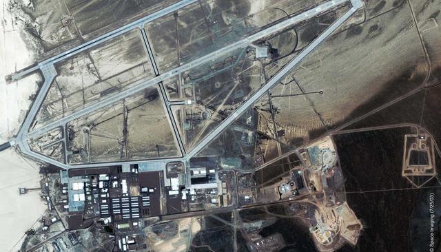 area 51 satelital - Extraterrestres bajo Tierra: Bases subterráneas en todo el mundo
