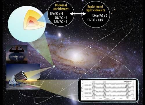 Descubierta una nueva familia de estrellas gigantes rojas con una extraña composición química en la Vía Láctea