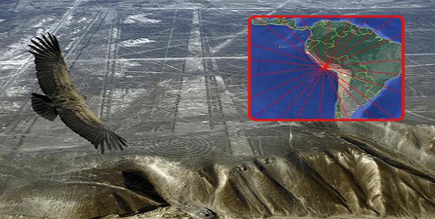 Esto es lo que se obtiene cuando se trazan las líneas de Nazca sobre todo el planeta