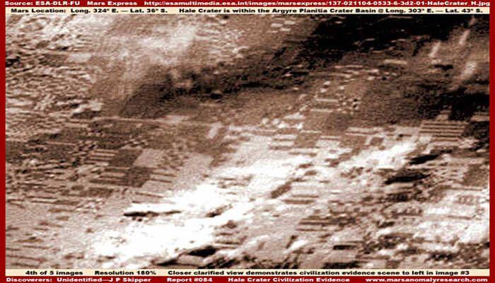¿Es esta la evidencia de un diseño inteligente en Marte que has estado buscando? El cráter Hale