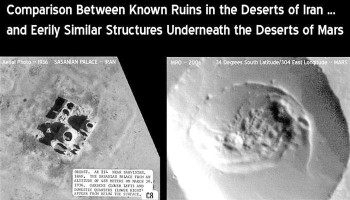 Ruinas de una Antigua ciudad planeta Marciano