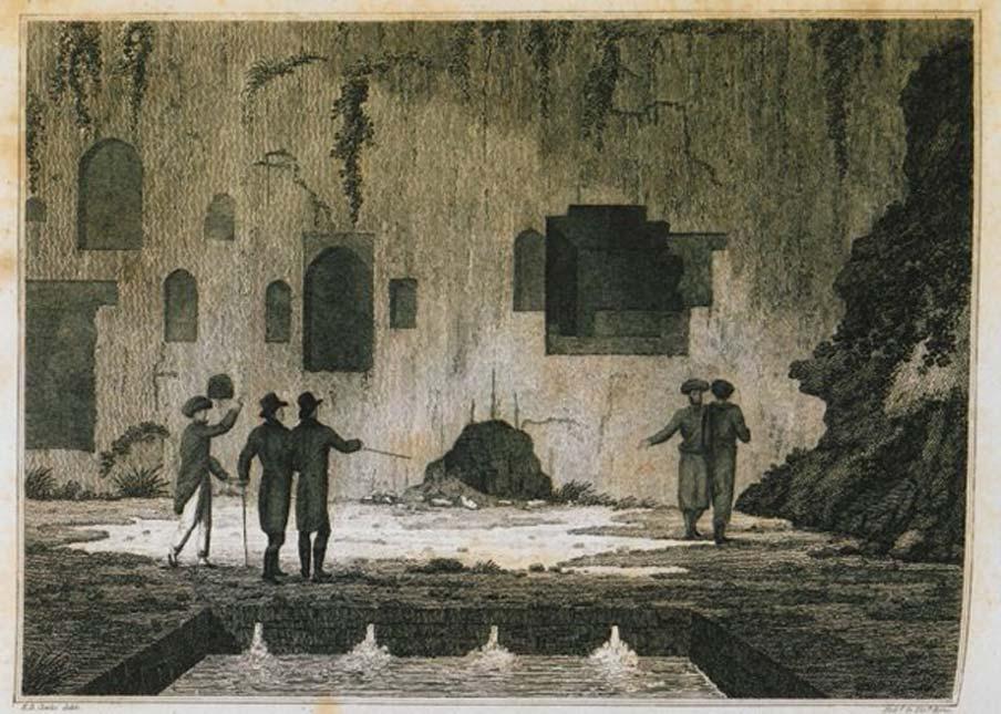 Interior del Oráculo de Trofonio en Lebadea. (Dominio público)