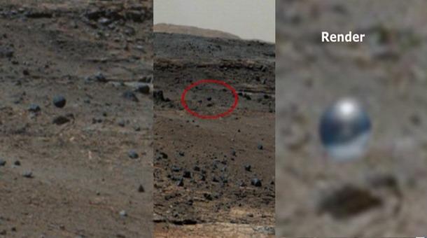 Una posible esfera extraterrestre es captada por la Curiosity Rover
