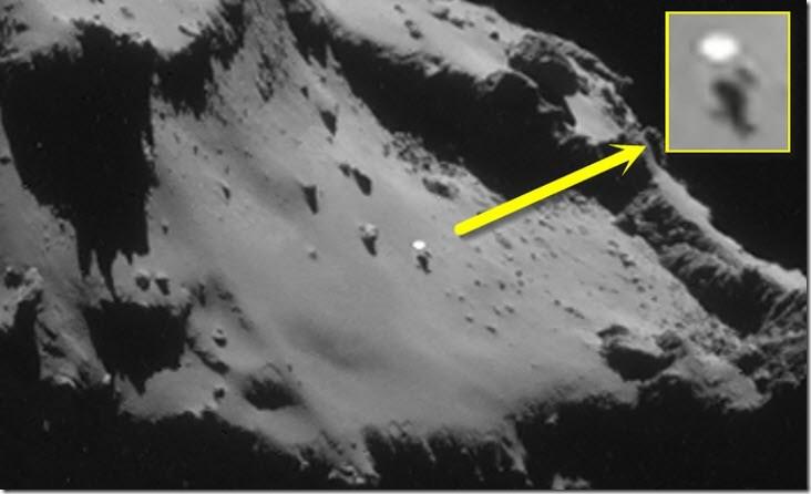 Objetos desconocidos en Cometa 67P y asteroide Eros ¿Existe alguna relación?