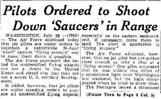 Incidente OVNI sobre Washington de 1952