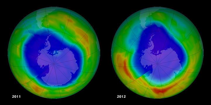 El agujero de la capa de Ozono se hace más pequeño por primera vez en la historia 2017
