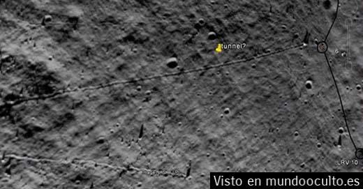 Misteriosos túneles han sido descubiertos en la superficie de la Luna